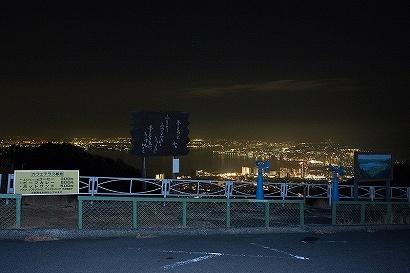 駐車場から見える夜景